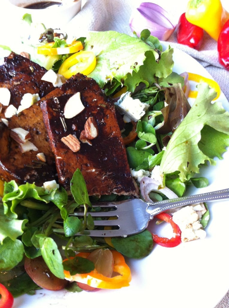Marinated Tofu with Sweet Balsamic Glaze