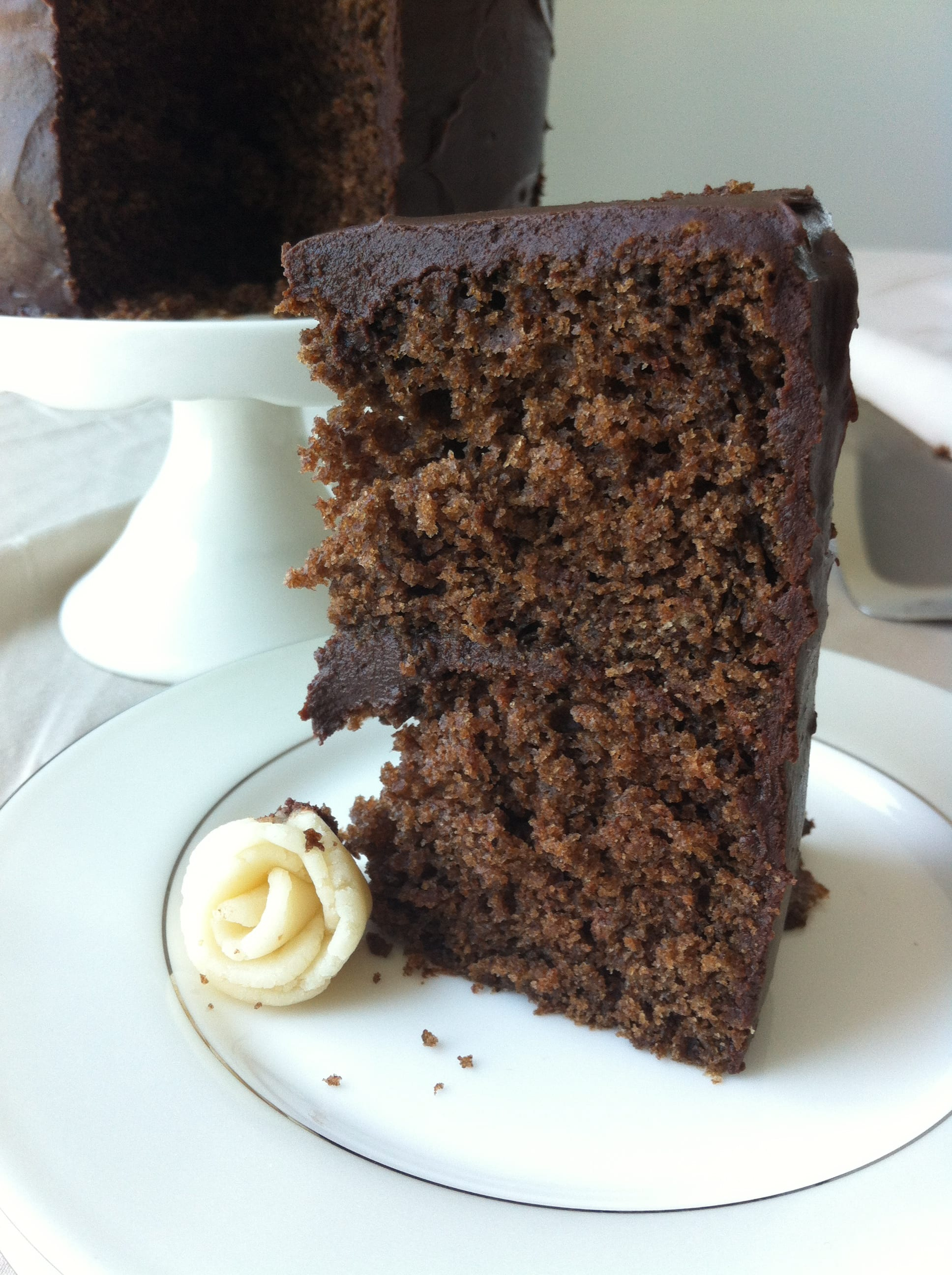 Old Fashioned Chocolate Fudge Cake