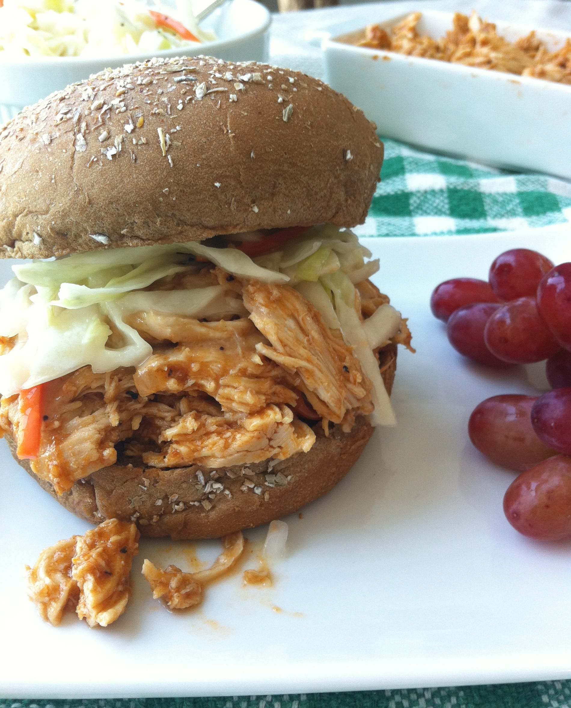 Barbecue Pulled Chicken made in a slow cooker!
