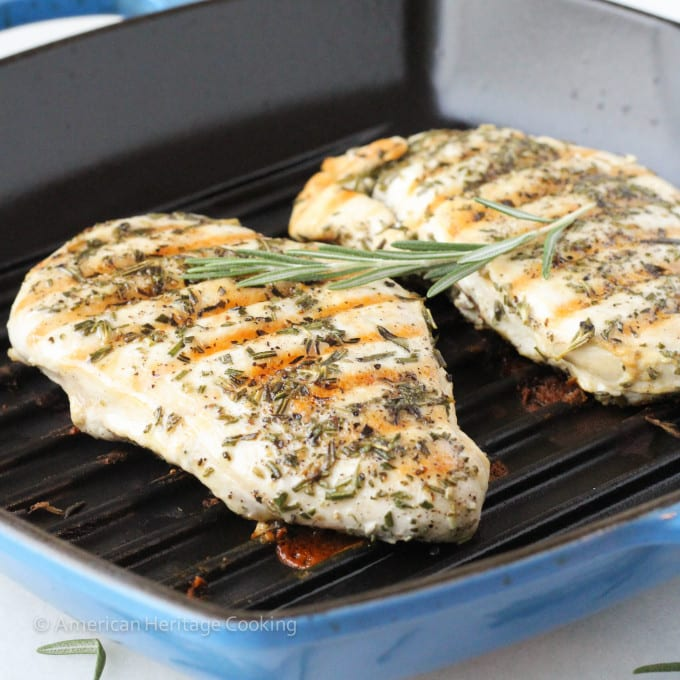 Foolproof Grilled Rosemary Chicken