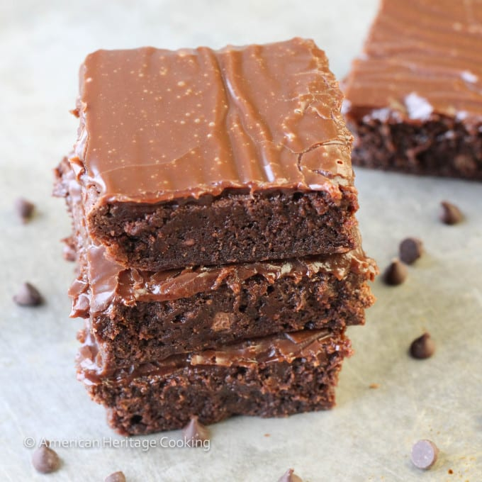Milk Chocolate Brownie with Milk Chocolate Ganache
