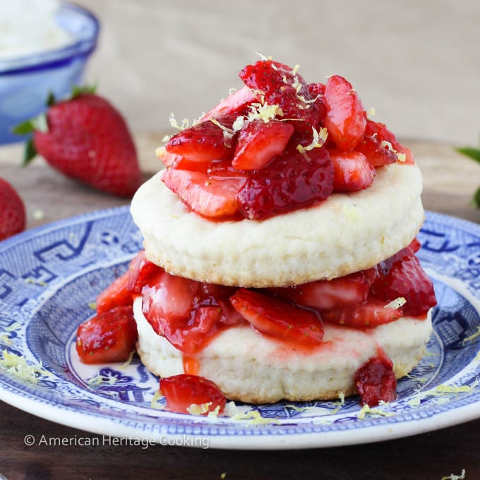 Easy Lemon Strawberry Shortcake