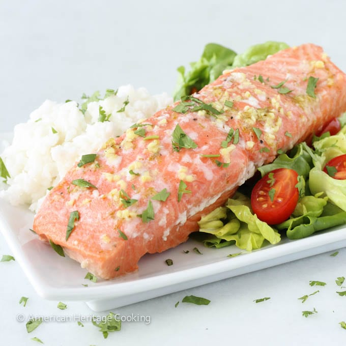 Ginger Lime Salmon with Coconut Rice