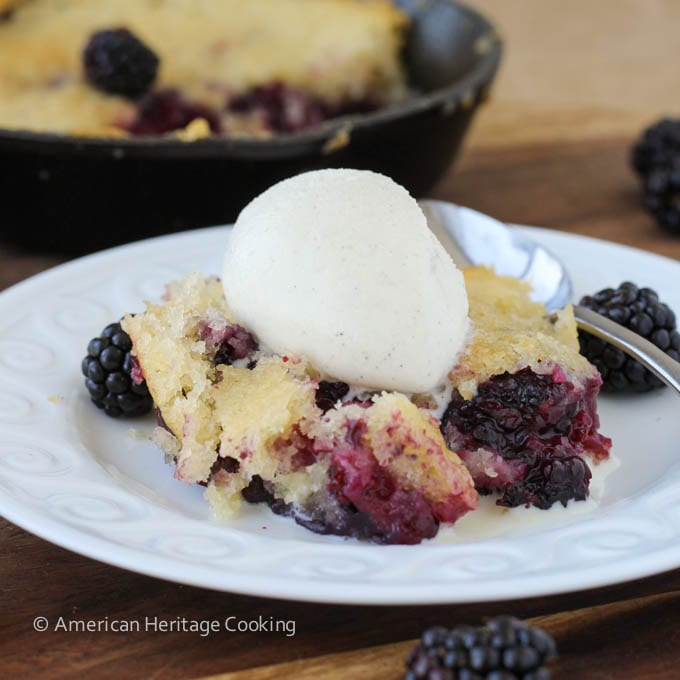 Old Fashioned Blackberry Buckle