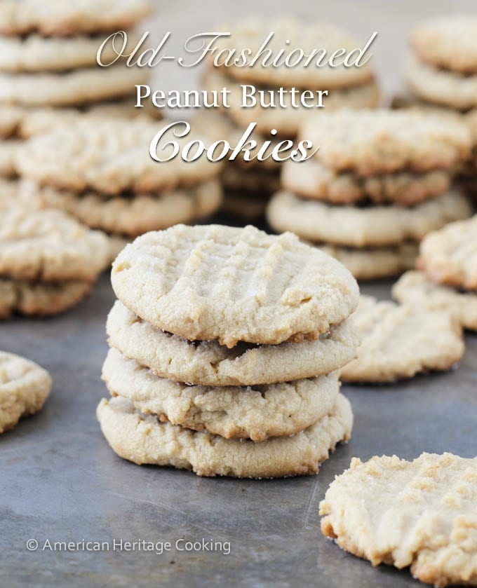 My Great Grandmother's Old-Fashioned Peanut Butter Cookies