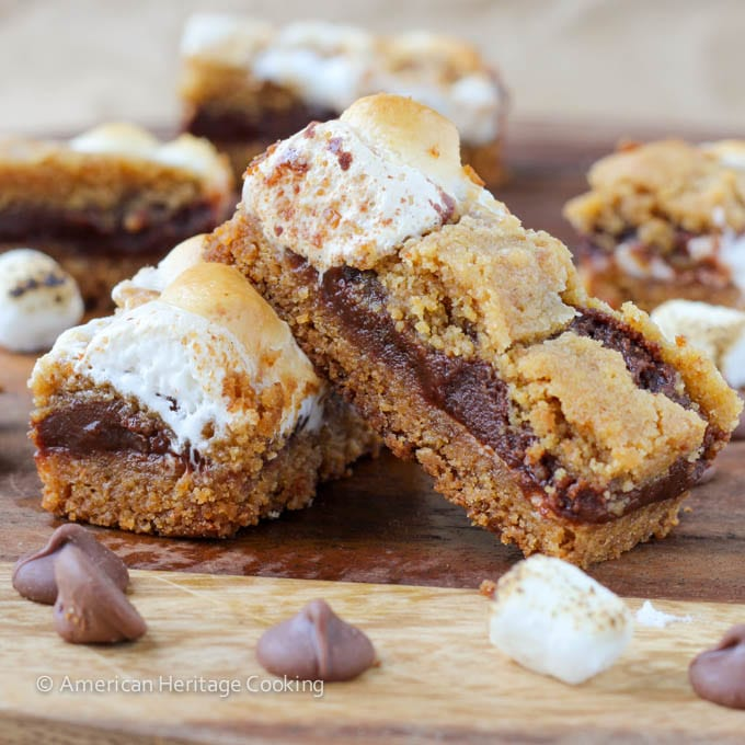 Soft Chewy Smores Crumble Bars