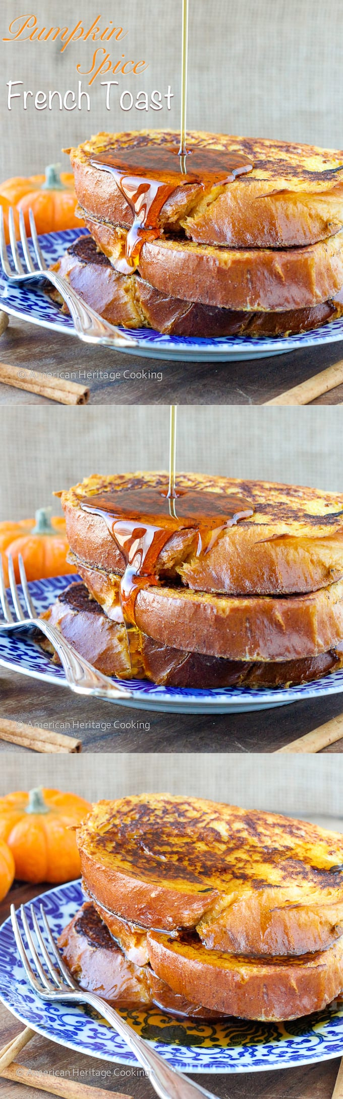 Pumpkin Spice French Toast | An easy Holiday Breakfast for Two!