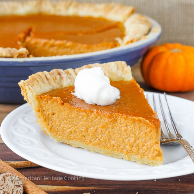 Classic Pumpkin Pie with a Twist | My new favorite pumpkin recipe has lemon zest, spices, vanilla and brown sugar! So amazing!