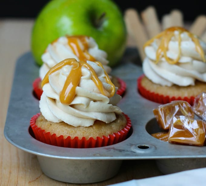 Your Cup of Cake Caramel-Apple-Cupcakes