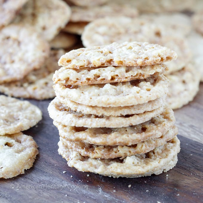 Old Fashioned Oat Lace Cookies Recipe |A beautiful, delicate oat cookie with hints of caramel and an irresistible crunch!