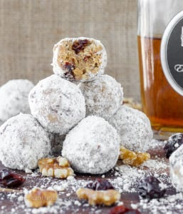 These easy no bake Gingersnap Brandy Balls are delicious and easy! The perfect addition to an adult holiday dessert spread!