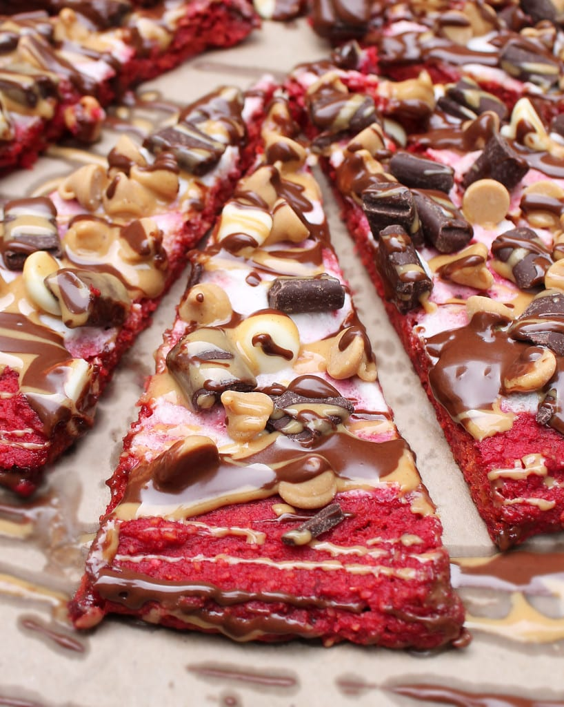 Sneak more veggies into your dessert with this Beet Dessert Pizza! Gluten Free and super easy!