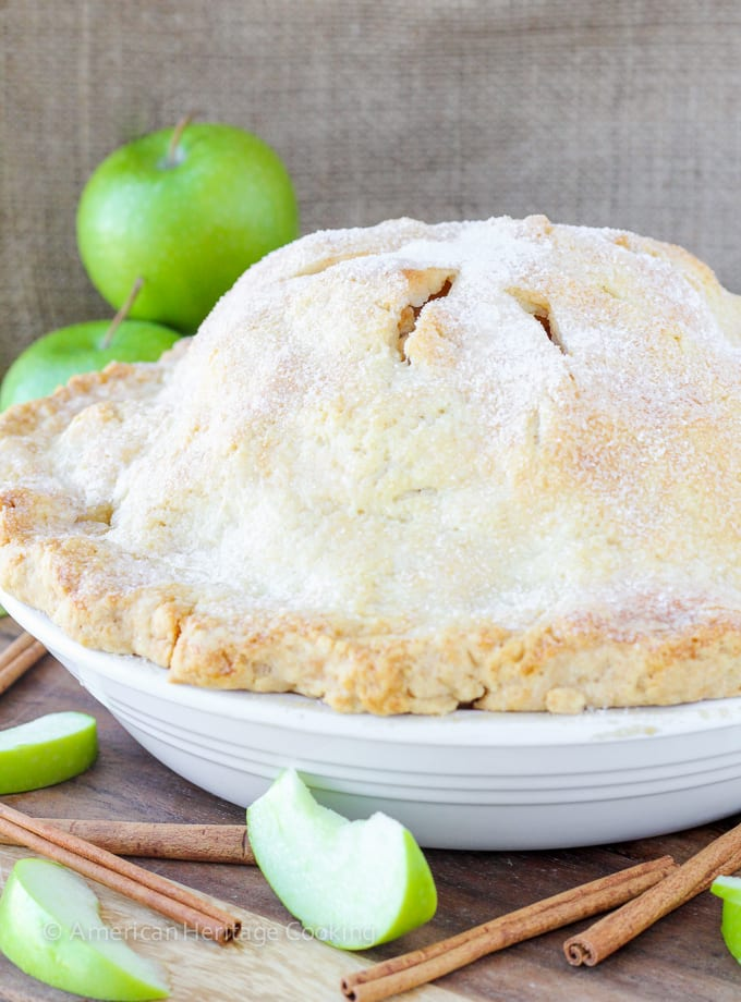 This recipe for Mile High Apple Pie is easy and insanely delicious! And the crust...flakey, sugary, buttery goodness!