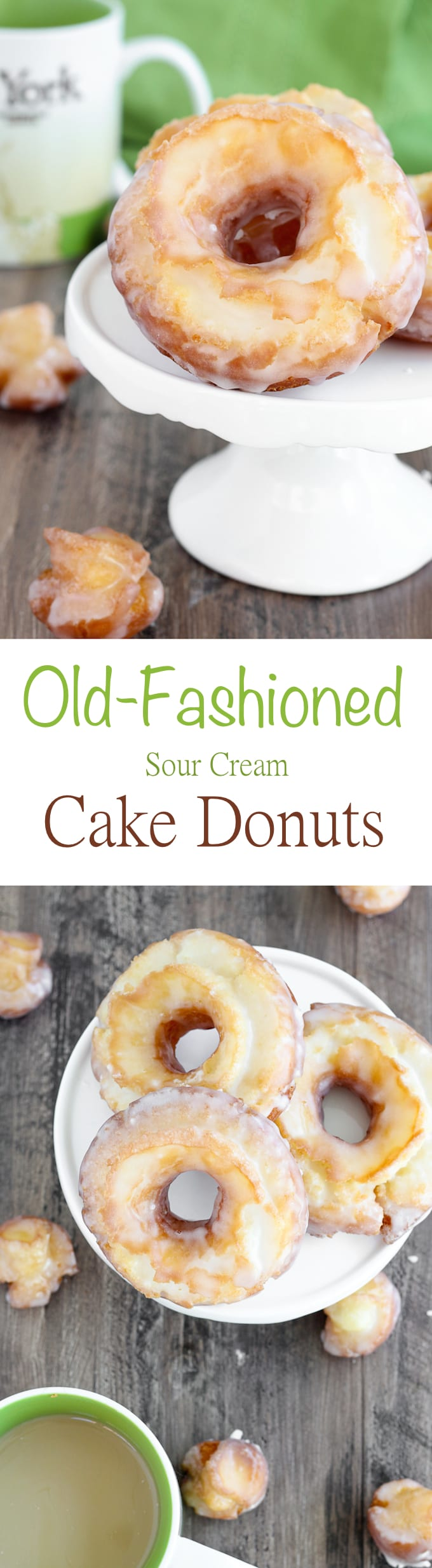 Old Fashioned Sour Cream Cake Donuts