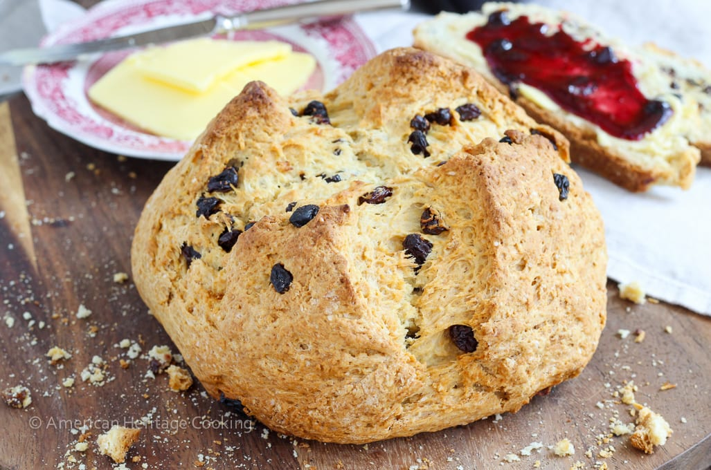 This Irish Soda Bread is tender and just a little sweet. Nothing is better than a thick slice fresh from the oven slathered with Irish butter and fruit jam. I searched for years for the best soda bread recipe and this is it!!!