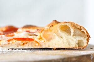 This sourdough pizza dough is easy, fast and you can use your sourdough starter discard!