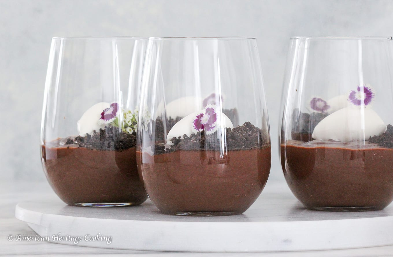 A rich, creamy dark chocolate pudding!