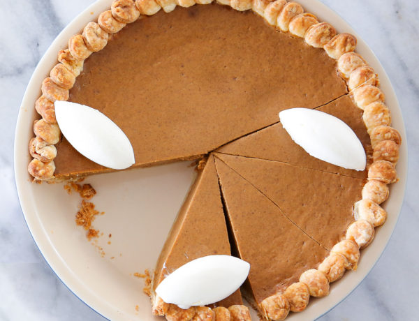 It is with full confidence that I bring you the best pumpkin pie! It is perfectly spiced, creamy and rich.