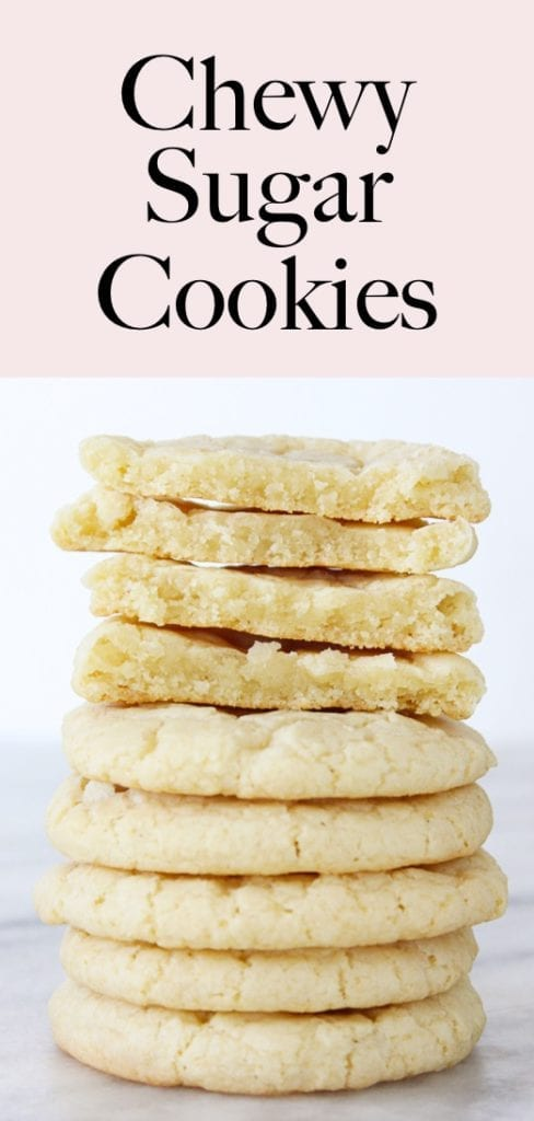 A pastry chef perfects Chewy Sugar Cookies! They are soft and chewy inside but still delightfully crunchy outside!
