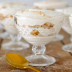 This banana pudding is even better than Magnolia Bakery's! Layers of lightened vanilla pudding, 'Nilla wafers, and perfectly ripe bananas all meld together into one unforgettable dessert!