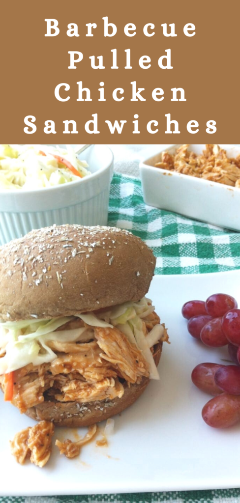 Barbecue Pulled Chicken Sandwiches With Sweet Coleslaw