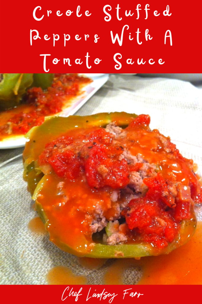 Creole Stuffed Peppers With A Tomato Sauce
