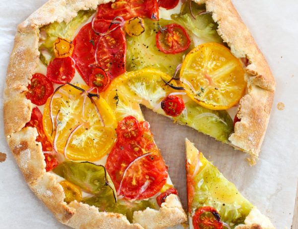 Tomato Goat Cheese Galette
