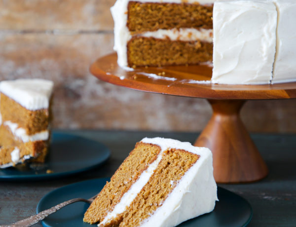 Pumpkin Spice Layer Cake with Cinnamon Cream Cheese Frosting